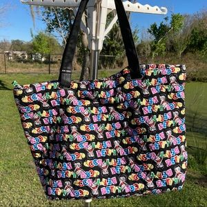 Betty Boop Quilted Faux Leather Straps HandBag